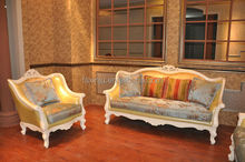 living room furniture / hotel lobby furniture / Antique gold fabric style modern sofa G1216c