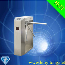 Turnstile Security Systems Pedestrian Barrier Gate with CCTV camera system