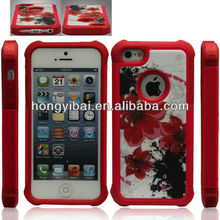 Case manufactured Beautiful flower designed waterproof phone cover for iphone 5