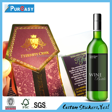 Terrific printing top grade wine bottle label