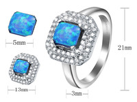 Unique Hot Rainbow Mystical White Opal 925 Sterling Silver Jewelry Sets