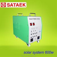 600w soalr generator box contained 12v 65ah battery 100w solar panel portable solar power system
