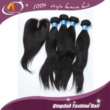 soft and clean 100 percent human hair virgin no shedding no tangle straight hair extension