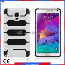 Silicon Material Smartphone Accessories Tanks Armor Hybrid Cover Mobile Phone Case For Samsung Galaxy Note 4 N9100
