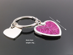 heart shape key tag heart keyring promotional heart key chain