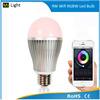 Best selling wireless indoor led hanging light bulb 9w smart bulb e27 medium base rgb change +dimming 2.4g wifi smart bulb
