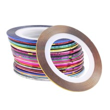 30 Pcs Mixed Colors Rolls Striping Tape Line Nail Art Tips Decoration Gel Nail Sticker Wholesale Nail Guide Sticker Tape