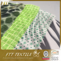 Printed Polyester Chiffon Weight Technical Textile Fabric