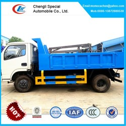 Light diesel dump truck,6 wheel drive dump truck,left hand drive tipper truck 5tons