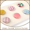 6pcs 25mm round stripe theme fabric brads for paper craft use