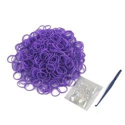 600pcs per bag cheap 24s clips 1 small hook loom rubber bands