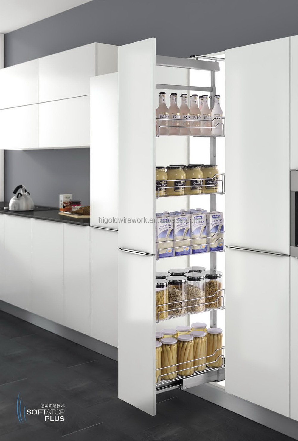 Tall Kitchen Cabinets With Pull Out Shelves Monsterlune