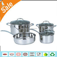 eco friendly 304 stainless steel cookware sets for induction cooker