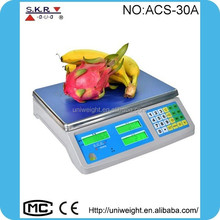 electronic price computing scale ,scale 30kg, digital price scale