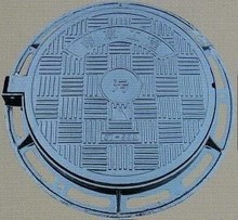 Double Seal Ductile Iron Manhole Cover on road