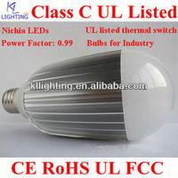 UL listed Nichia LEDs FCC industrial e27 12w 12v led candelabra bulb