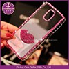 Bling cell phone case for IPhone 4/4s, 5/5s, 6 with 3d lip