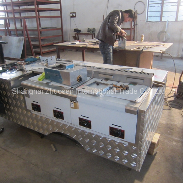 Mobile electric road side deep fryer bain marie food - Remorque cuisine mobile ...