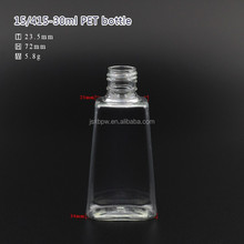 30ml trapezoid PET bottle with flip top caps or sprayer pump for hand sanitizer
