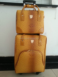 crocodile leather 2 pcs best travel business carry on luggage