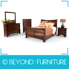 Dark Brown Oak Timber Bedroom Furniture