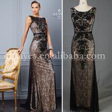 Da410005 bordado Black Lace mãe do vintage dos vestidos de noiva 2015