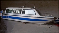 7.8m fast speed fiberglass petro drive passenger water taxi boat for sale