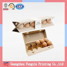 Customized Printed China Supplier Portable 6 Cardboard Egg Box