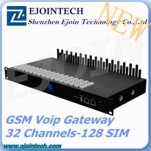 2014 NEW Arrival Ejoin GoIP-32 / 128 gateway, 32 channel 128 Sim GSM Voip Gateway z-wave gateway