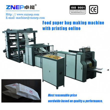 ZNYJ-300 Automatic Pointed Bottom Paper Bag Machine With Flexo Printing For Croissant