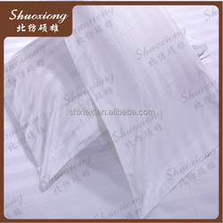 100%cotton hotel white bedding satin stripe fabric in cheap price