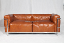 living room sofa 1 2 3 seater luxury vintage leather Le corbusier LC3 sofa replica