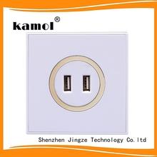 2 amp usb wall charger socket universal 86*86 mm