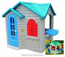Plastic children house for preschool, home garden