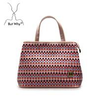 New design 2015 Splice handbags Floral handbag for women