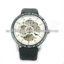 Luxurious Hollow Auto Mechanical Men's Sport Silicone Wristband Watch