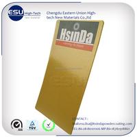 thermosetting metalic gold powder coating paint