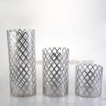Cheap clear tall cylinder glass flower vases
