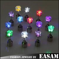 Fashion party club multi-color led earrings,wholesale light up led stud earrings