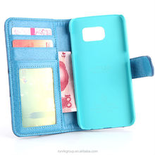 2015 New Arrival Mobile Phone Credit Card Wallet Pouch Leather Case for Samsung Galaxy S6