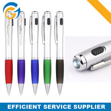 Promotional Plastics Flashlight Torch Ball Pen