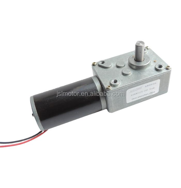 Hot sale aslong dc 12 volt worm gear motor with high for 12 volt gear motor