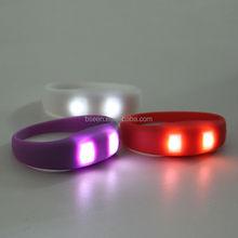 motion sensor led silicon wristbands bracelets in 2015