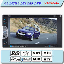 2-din car dvd player with gps and bluetooth YT-F6049A