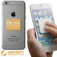 Uintgift cooperation brand without mould fee mobile phone microfiber sticker screen cleaner