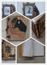 Cheap and Hot selling animal wooden carved photo abum /frames for gift and home decoration