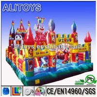 giant kid playground inflatable amusment park bouncer castle giant castle jumper