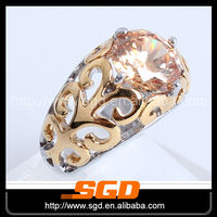 High Qality New Fashion rhomb shape crystal rings