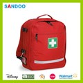 Mochila médica kit de primeiros socorros, moda mais recente da cruz vermelha mochila para 2015