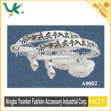 venta caliente de la moda de plata tibetana miao plata cuelgan encanto brazalete pulsera